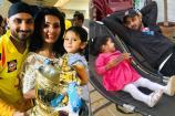 VIDEO: హర్భజన్ గారాల పట్టి హినయా కోసం గీతా పాట్లు