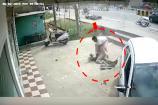 Video : సినీమాటిక్ వేలో కారు ప్రమాదం... ఒకరికి తీవ్ర గాయాలు...