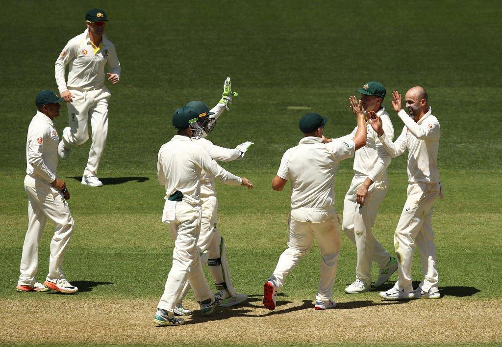 ఆస్ట్రేలియా ఆటగాళ్ల సంబరాలు ( BCCI /ICC /Cricket Australia/ Twitter )