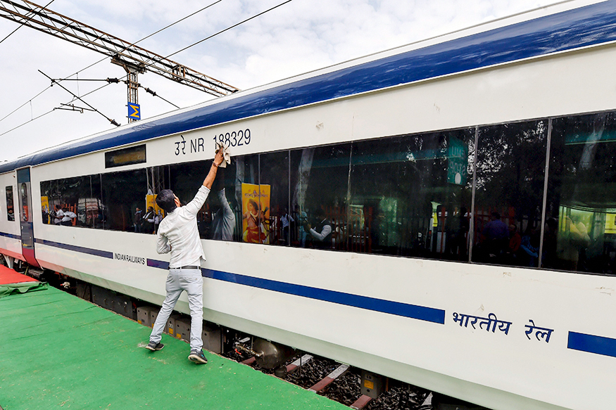 vande mataram express, vande mataram express route, vande mataram express fare, vande mataram express speed, vande mataram express train booking, train 18, train 18 schedule, train 18 ticket cost, piyush goyal, వందేమాతరం ఎక్స్‌ప్రెస్, పీయూష్ గోయల్, ట్రైన్ 18