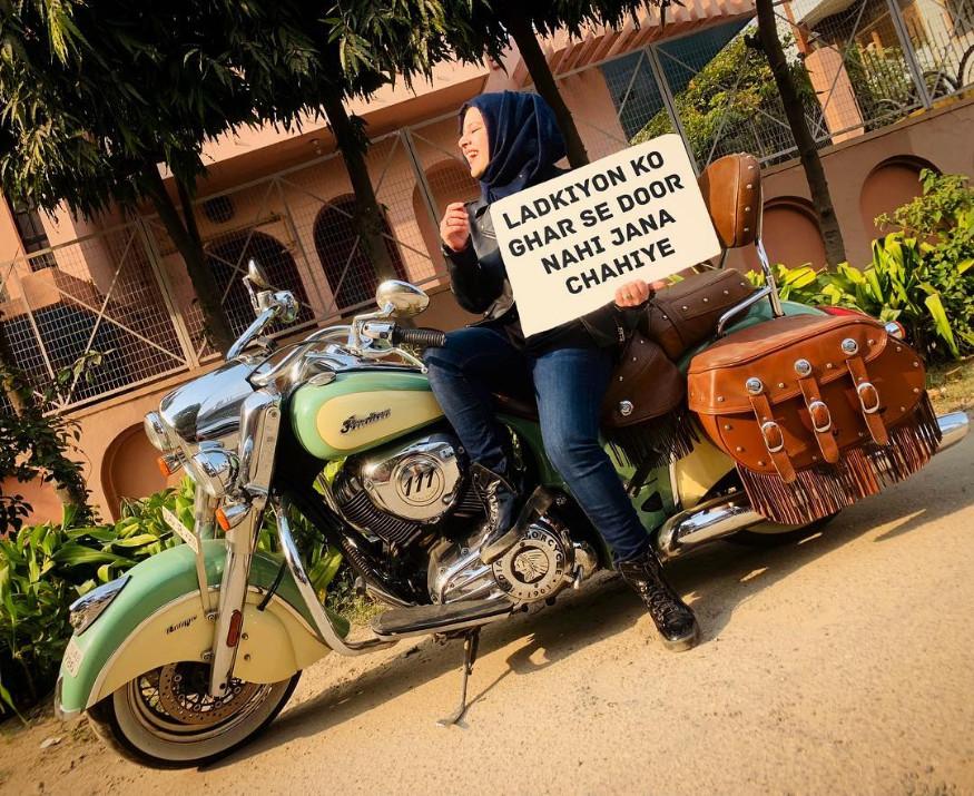 12. 'హిజాబీ బైకర్' రోష్నీ మిస్బా. (Image: roshnimisbah/Instagram)