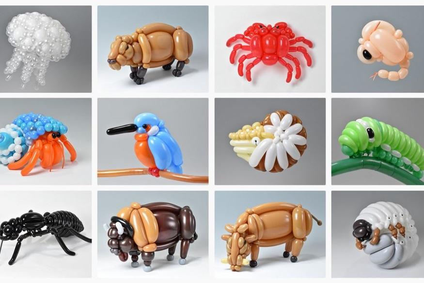 బెలూన్లతో మసాయోషీ అద్భుత సృష్టి (Image : instagram/isopresso_balloon)