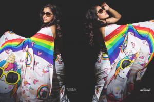 Rashmi Gautam : కలర్ ఫుల్గా రష్మీ గౌతమ్... చీరలో అదరగొట్టిన జబర్దస్త్ బ్యూటీ